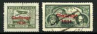 "Poland 1934 Air Tournament with ""Challenge 1934"" overprint sg301/2 (2v) V Stamps"