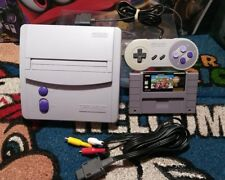 Super Nintendo SNES Mini Jr Top Loading Console System w/Super Mario Kart.
