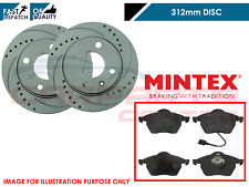 FOR VW GOLF MK4 1.9 GT TDI 150 ANNIVERSARY FRONT GROOVED BRAKE DISCS PADS 312mm