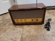 Vtg MidCentury 1950's Magnavox Tube Radio Model FM017 Tested Working