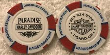 Paradise Harley-Davidson® in Tigard, OR Collector Poker Chip White/Red/Blue NEW