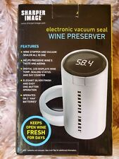 Wine Preserver Electronic Vacuum Seal Sharper Image Wine Stopper Sealed Never Us