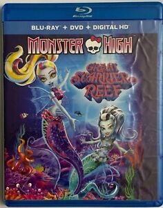 MONBSTER HIGH GREAT SCARIER REEF BLU RAY DVD 2 DISC SET FREE WORLD WIDE SHIPPING