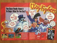 Clayfighter SNES Super Nintendo 1993 Vintage Poster Ad Advert Art Print Rare HTF