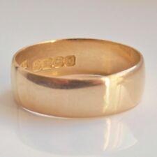 Fine Antique Edwardian 18ct Gold Wedding Band Ring c1906; UK Ring Size: 'P 1/2'