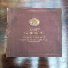 ALBUM COFFRET DE 13 + 1 DISQUES 78 TOURS POUR GRAMOPHONE : PUCCINI - LA BOHÊME