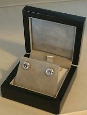 "18k White Gold Floating ""happy"" Diamond Earrings"