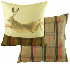 "Evans Lichfield Leaping Hunter Hare Hand Painted Animals Cushion 17"" - 43cm"