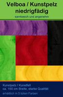 Velboa / Kunstpelz UNI / Flausch Fellimitat / Stoff / waschbar / 5 tolle Farben