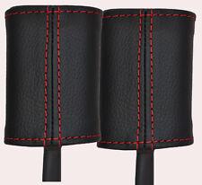 RED Stitch accoppiamenti ALFA ROMEO 147 01-09 2x ANTERIORE CINTURA DI SICUREZZA stelo in pelle copre