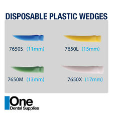 Dental Disposable Wedges Plastic 400 pcs Assorted