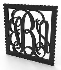 """3 Letter Vine Monogram Door or Wall Hanger 14"""" tall Custom Made and Painted."""