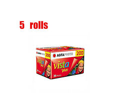 5 Rolls Agfa Vista Plus 200 35mm 135-36EXP Color Negative Film 06/2019