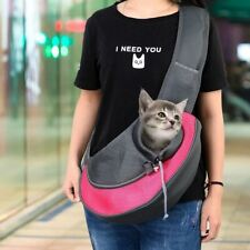 Cat Carrier Pet Dog Sling Backpack Bag Breathable Travel Transport Carrying Bag