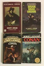 Robert E. Howard Lot of 4 Vintage Paperback Books CONAN Solomon Kane & More
