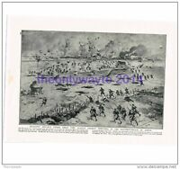 Infantry Advance on German Trenches, near Arras, WW1, Book Illustration