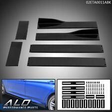 Fit For Universal Car Side Skirt Extension Rocker Panel Splitter Lip Gloss Black Fits Toyota Yaris
