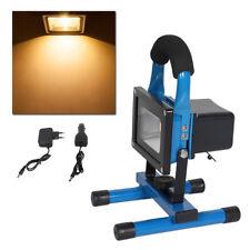 Blau 10W LED Strahler IP65 Akku Fluter Arbeitslampe Handlampe Baustrahler Warm