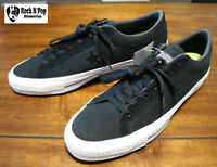 Men's Converse CONS One Star Canvas OX Black White Suede Casual Shoes 153710C