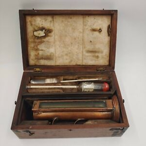 Antique Prohibition Era Alcohol Hydrometer Testing Kit with 5 Vials IRS Stamp
