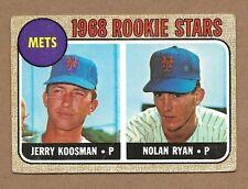 1968 Topps #177 Nolan Ryan/Jerry Koosman Rookie Stars GD w/ creases