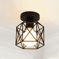 E27 Retro Metal Cage Ceiling Loft Pendant Chandelier Light Lamp Shade Lampshade
