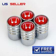 HONDA VALVE STEM CAPS WHEEL TIRE CHROME - US SELLER VE12