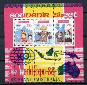 38362) Indonesien 1988 MNH World Expo S/S Brisbane