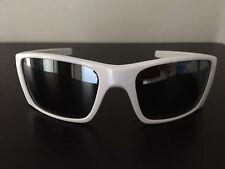 Polished White Oakley Fuel Cell Sunglasses Black Iridium Mirror Lens 9096-03 USA
