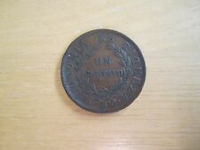 1853 Chile One Centavo Coin, Name engraved on coin
