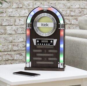 Retro-look ITEK jukebox CD, Bluetooth and Radio Player