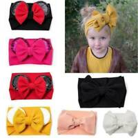 Girl Baby Kids Cute Sequins Elastic Bow Headdress Kids Hair Band Newborn AU