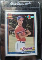 1991 TOPPS #333 CHIPPER JONES ROOKIE CARD RC ATLANTA BRAVES HOF GEM MINT