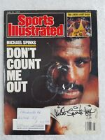 Michael Spinks 'Jinx' Authentic Signed Sports illustrated 1988 Vintage Magazine