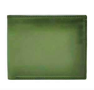 ❤️ $64 FOSSIL Hayward Traveler Burnished Leather Trifold Wallet Olive RFID NWT❤