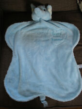 """AURORA BABY PALE BLUE BABY'S FIRST BLANKIE ELEPHANT SOFT TOY COMFORTER APPRX 21"""""""