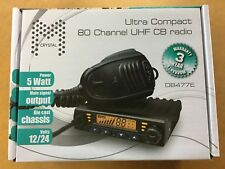 **BRAND NEW** Crystal DB477E UHF 80 Channel Radio 5 Watt Duplex 2-Way CB