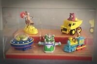 RARE Store Display Stand & Case with Toy Story Toys Disney Pixar Retail Shop RUS
