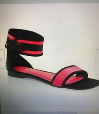 NWT WOMENS  Rouge Ankle Strap Sandals, Neon Pink, Sz 8.5