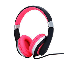 Rockpapa Foldable Adjustable Girls Women Pink Headphones With Mic for iPhone Mp3