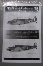 Classic Airframes Decals 48-001 1/48 Lockheed Hudson Mk.III/A-29
