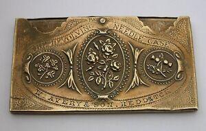 Antique Victorian W. Avery of Redditch REVOLVING NEEDLE CASE