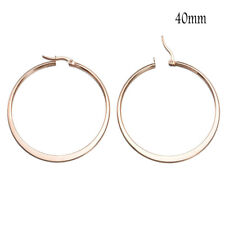 Big Round Women Hoop Earrings Pendant Charm Silver Gold Jewelry Gift Wedding