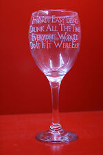 Laser Engraved Wine Glass Game Of Thrones Its Not Easy Being Drunk All The Time