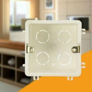86 * 86mm Kunststoff-Wandmontagebox eingebettete einzelne Lichtschalter Kassette