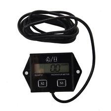Spark Plugs Engine Digital Tach Hour Meter Tachometer Gauge Motorcycle ATV J2K7