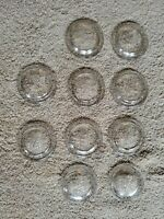 VINTAGE BALL CANNING JAR LIDS CLEAR GLASS *SET 10 *  No:10