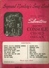 Sigmund Romberg's Song Book Organ Sheet Music Roaring 20's Era Student Prince