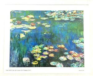 Claude Monet Nymphaes 24x30cm Water Lillies c.1914-17 Archival matte paper print