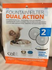 2pk Catit Premium Dual Action Fountain Water Filter